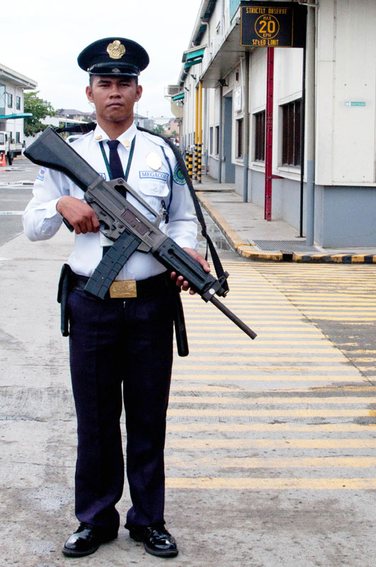 Armed-security guard