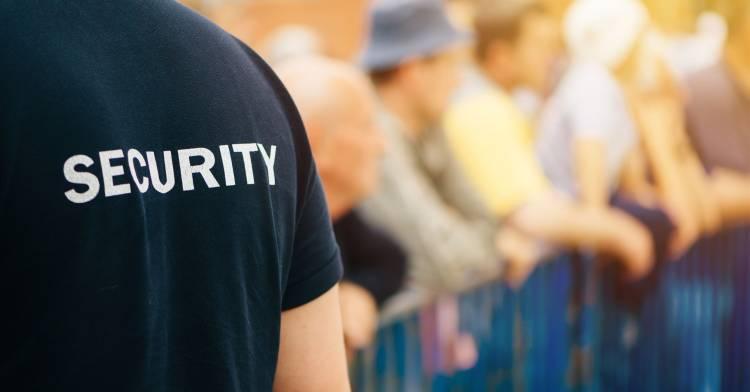 security guard customer interaction
