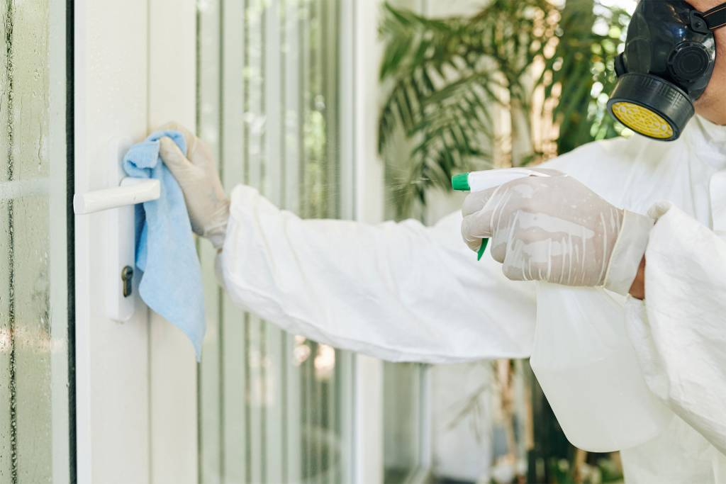 sterilize and disinfect the whole facility
