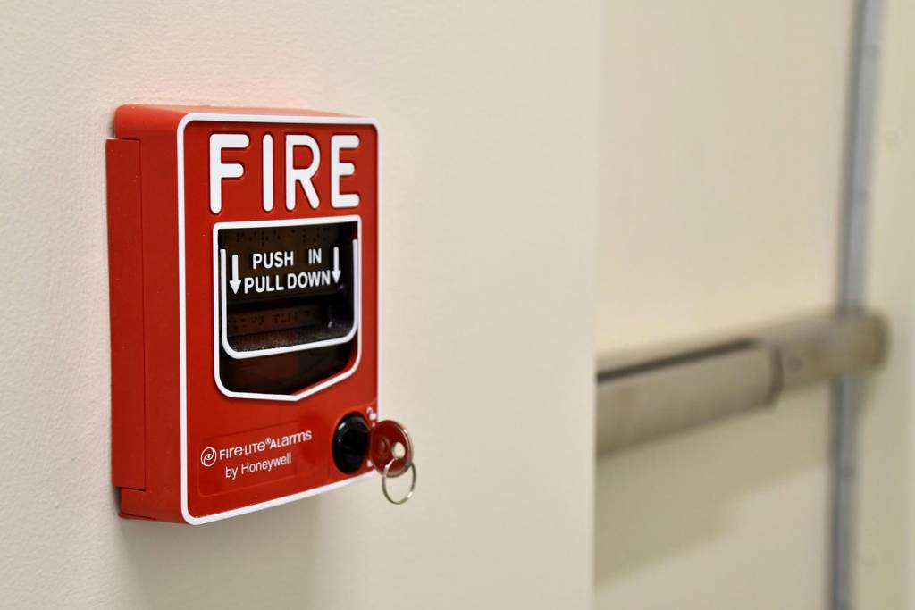fire alarm and fire exits