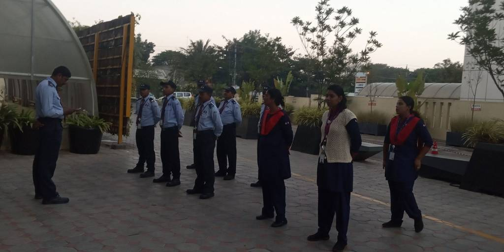 trained security personnel