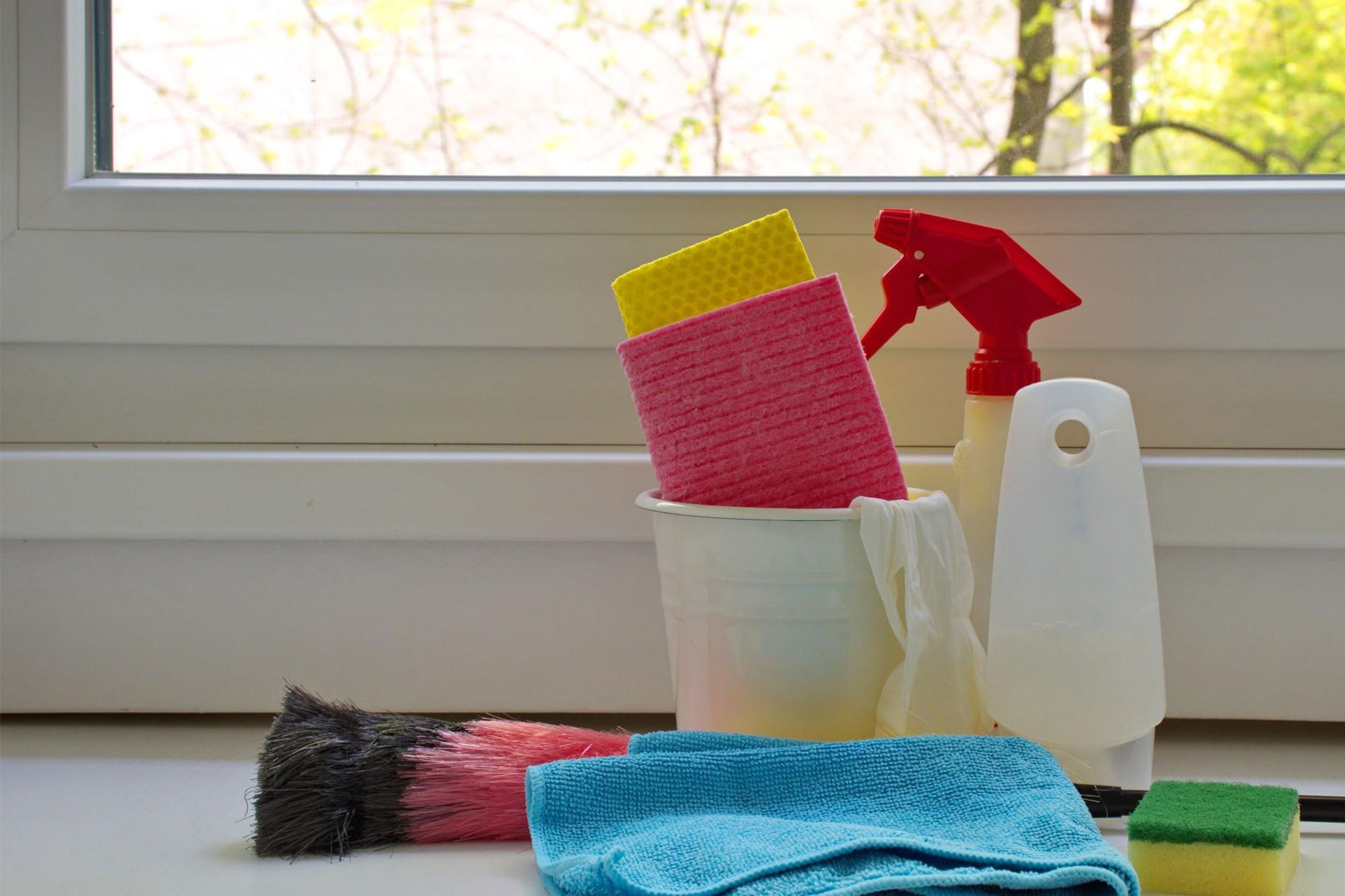clean the inside and outside of the window