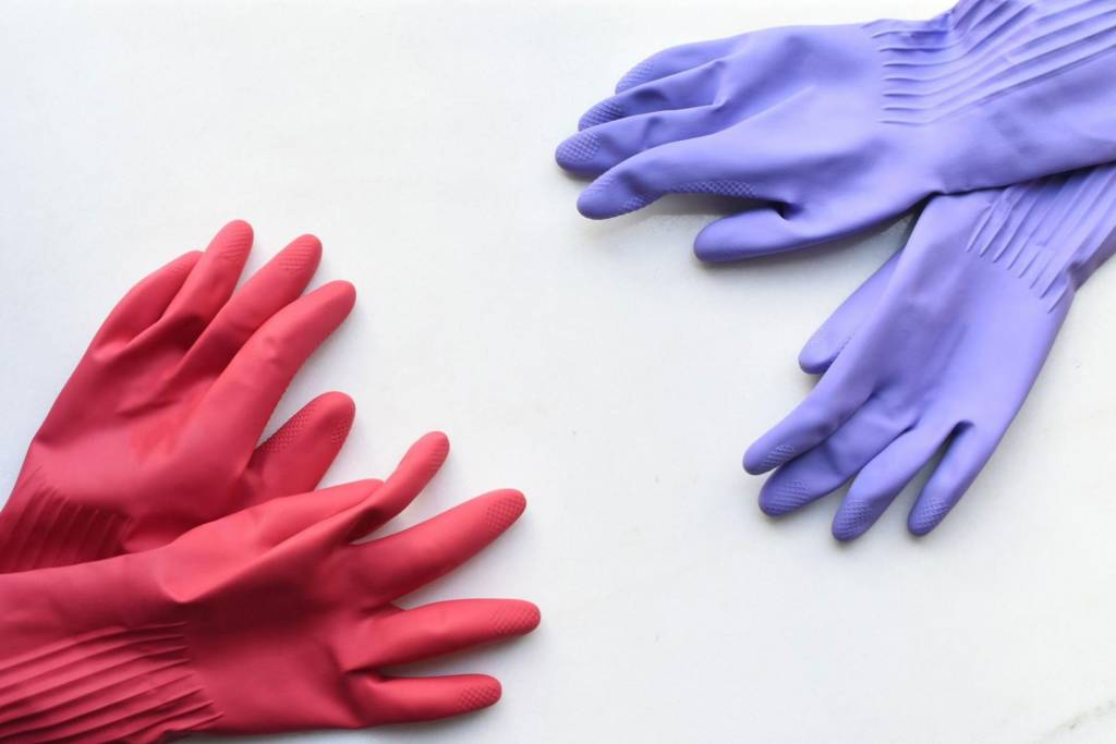 pair of hand gloves